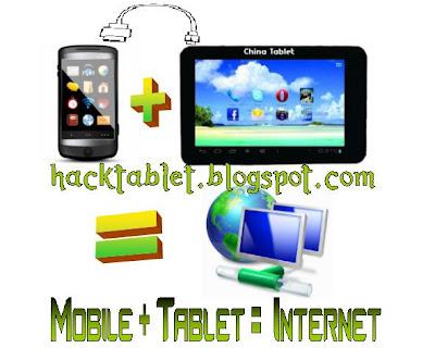 Browse Internet on Tablet via Mobile [Works on all tablets]
