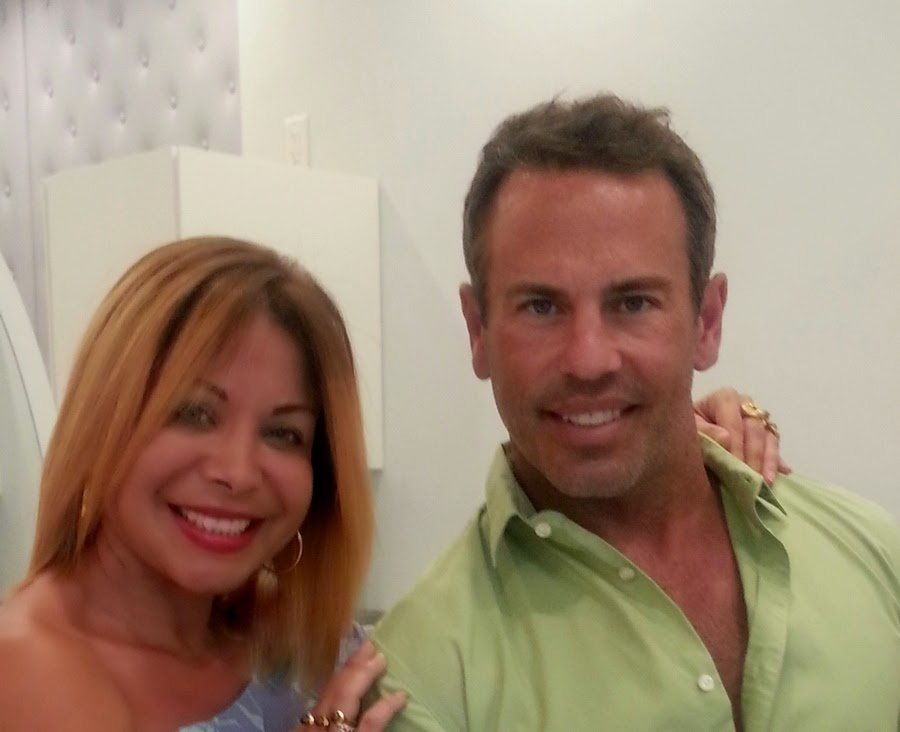 Lissette Rondon, President of Miami Fashion Spotlight and  Hair Stylist, Danny Jelaca--owner of Danny Jelaca Salon in South Beach, Miami.