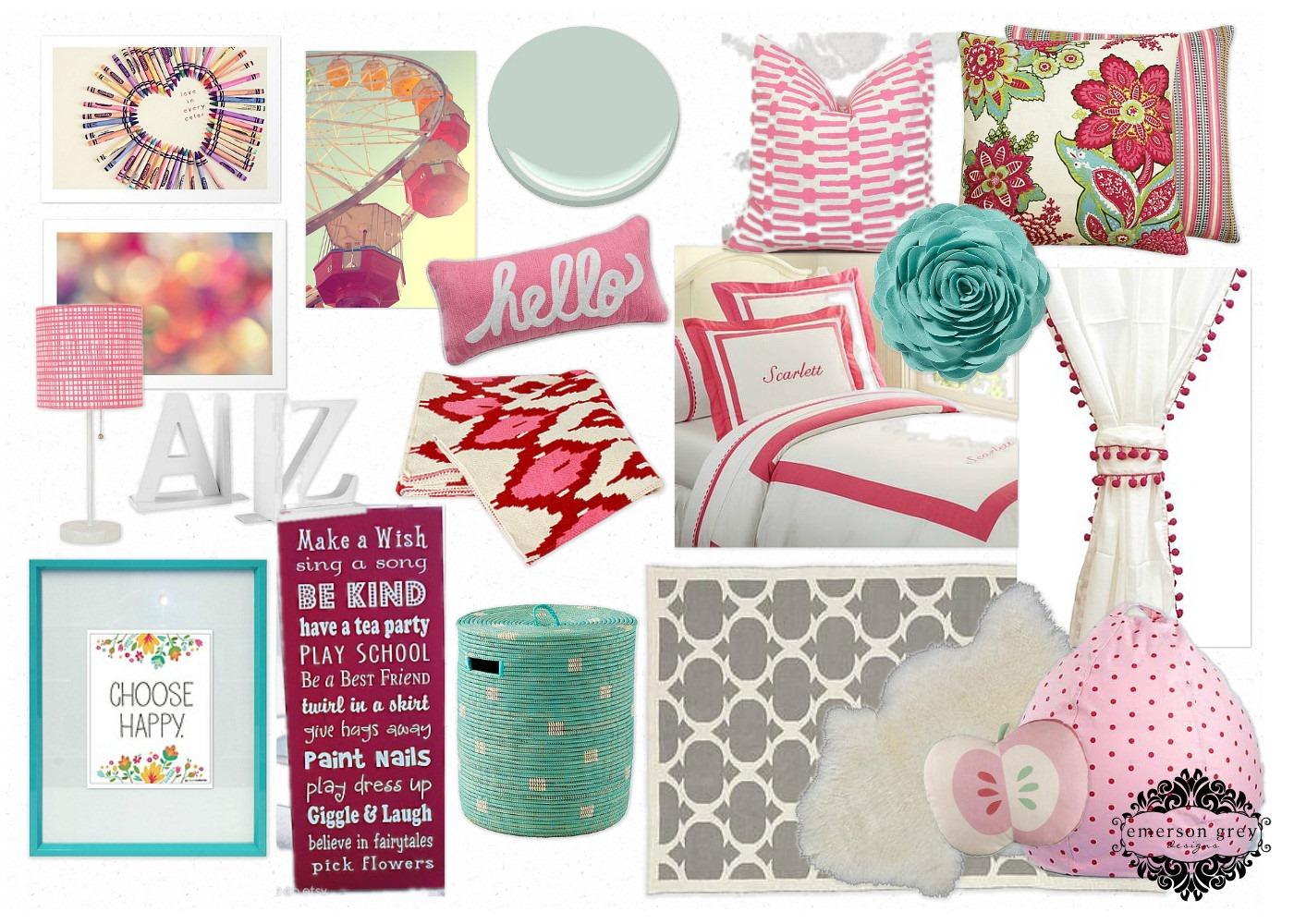 Raspberry Bedroom Emerson Grey Designs E Design Interior Stylist Raspberry Girl