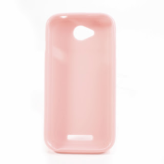 TPU Jelly Case with Matte Back Side for Lenovo A706 - Pink
