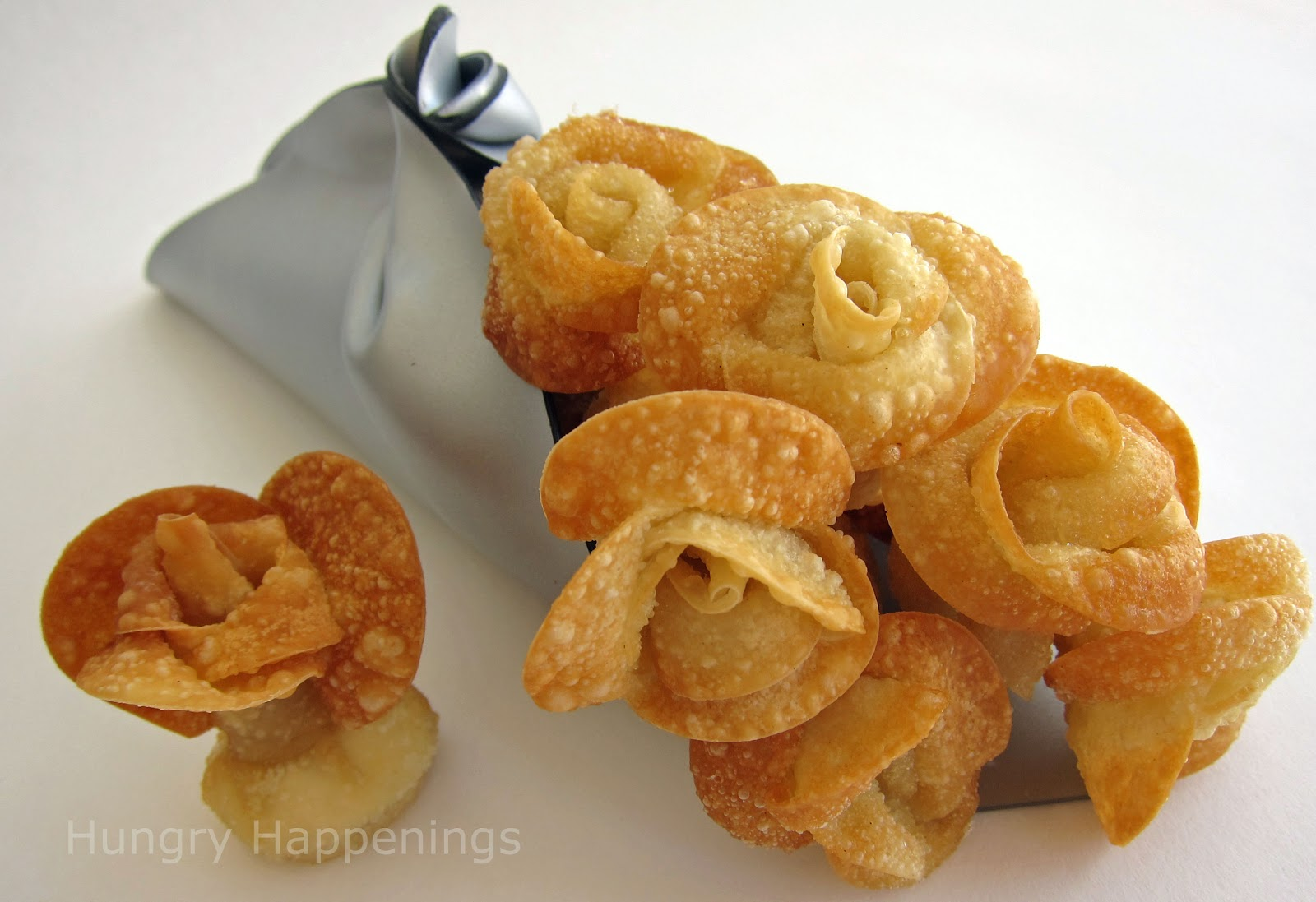 Just Me and My Own Mind: A Beautiful Bouquet of Fried Won Ton Roses