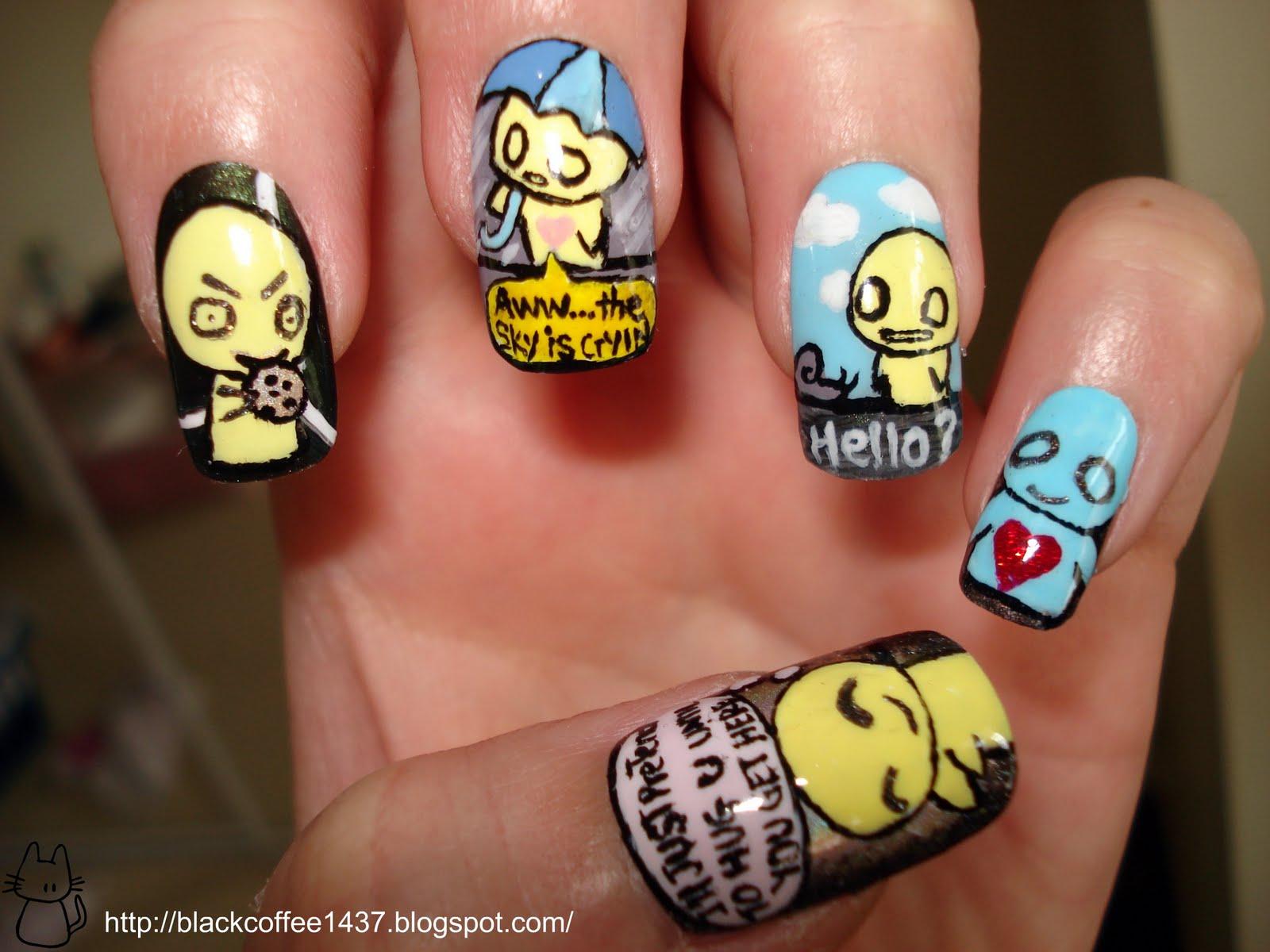 Silence is Loud: Pon and Zi nail art
