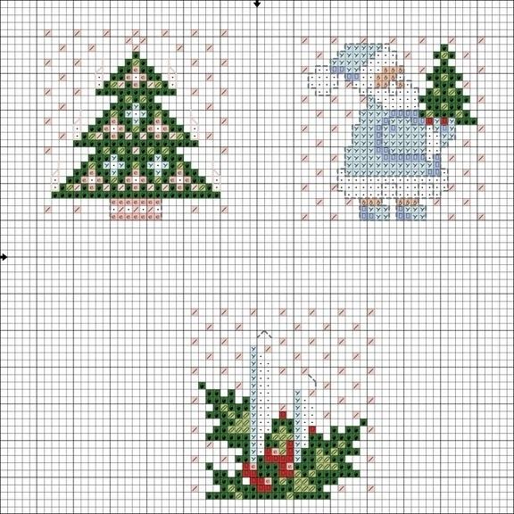 Схема вышивки крестиком елки 67