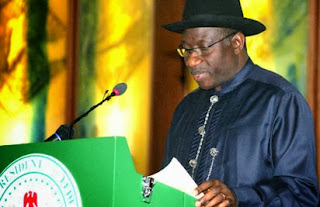 Photo of President Jonathan Addressing The Nation