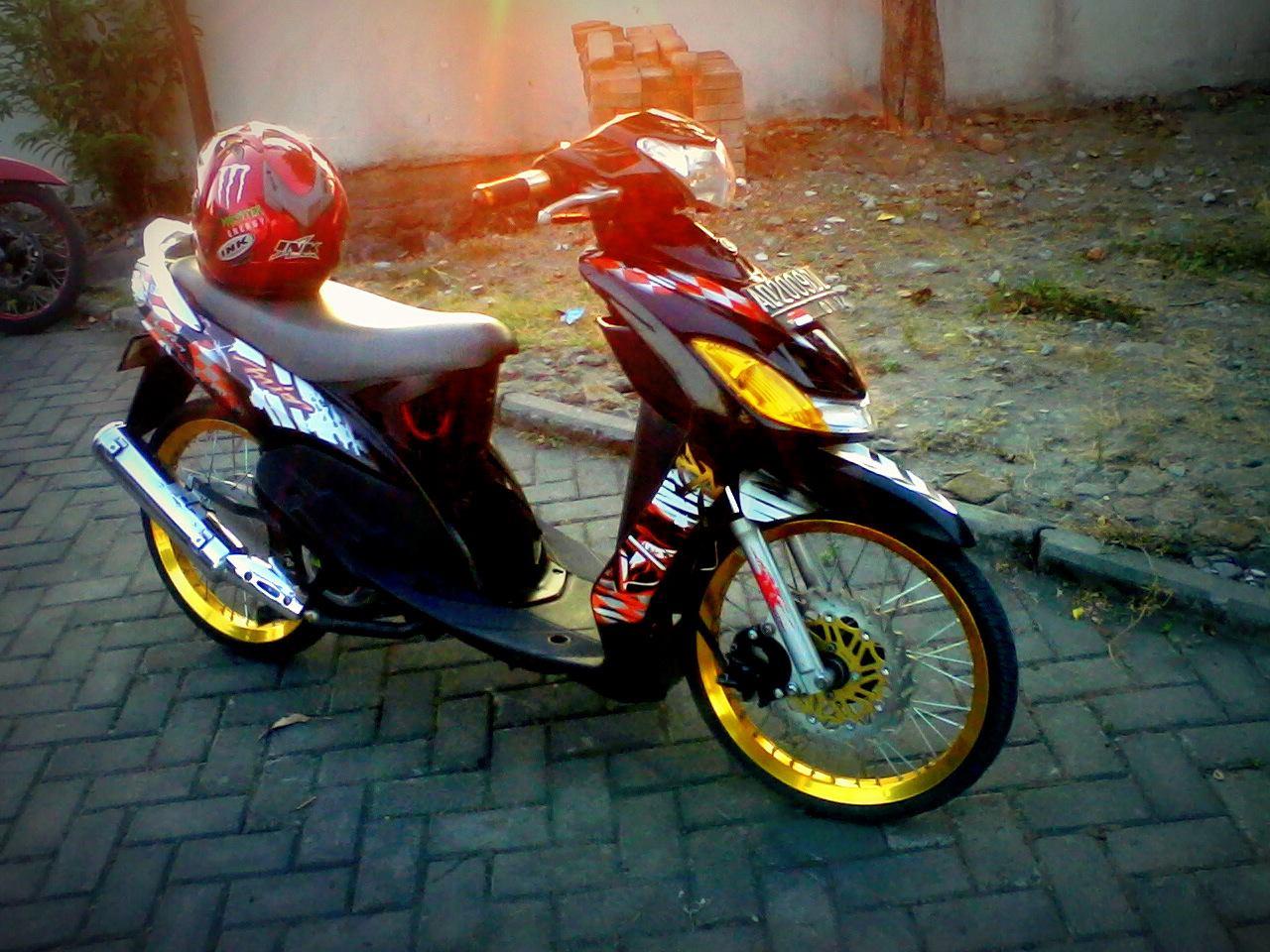 Modifikasi Motor Mio Velg 17 title=