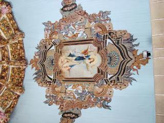 Toto da igreja matriz de Castelo Branco Mogadouro, imagem da padroeira, pintura a oleo de autor desconhecido
