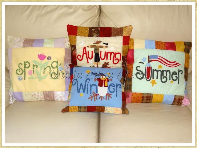 Almofadas, apliquê, patchwork, almofadas apliquê, almofadas patchwork, maria adna ateliê, publicado revista