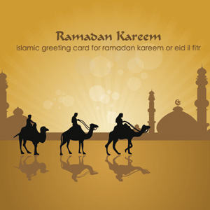 Ramadan Kareem and Eid Fitri Card