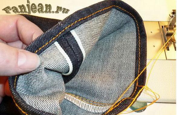 подгибка джинсов