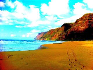 Foto vom Polihale Beach auf Kauai-Insel - Hawaii
