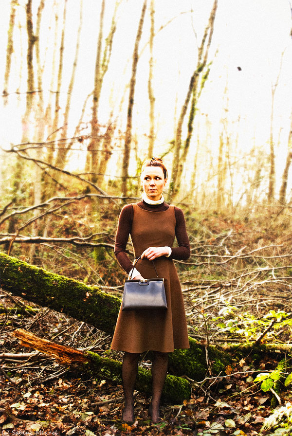 Psynopsis Brown Next Wool Dress Zara Turtlenecks Beyond Retro Bag