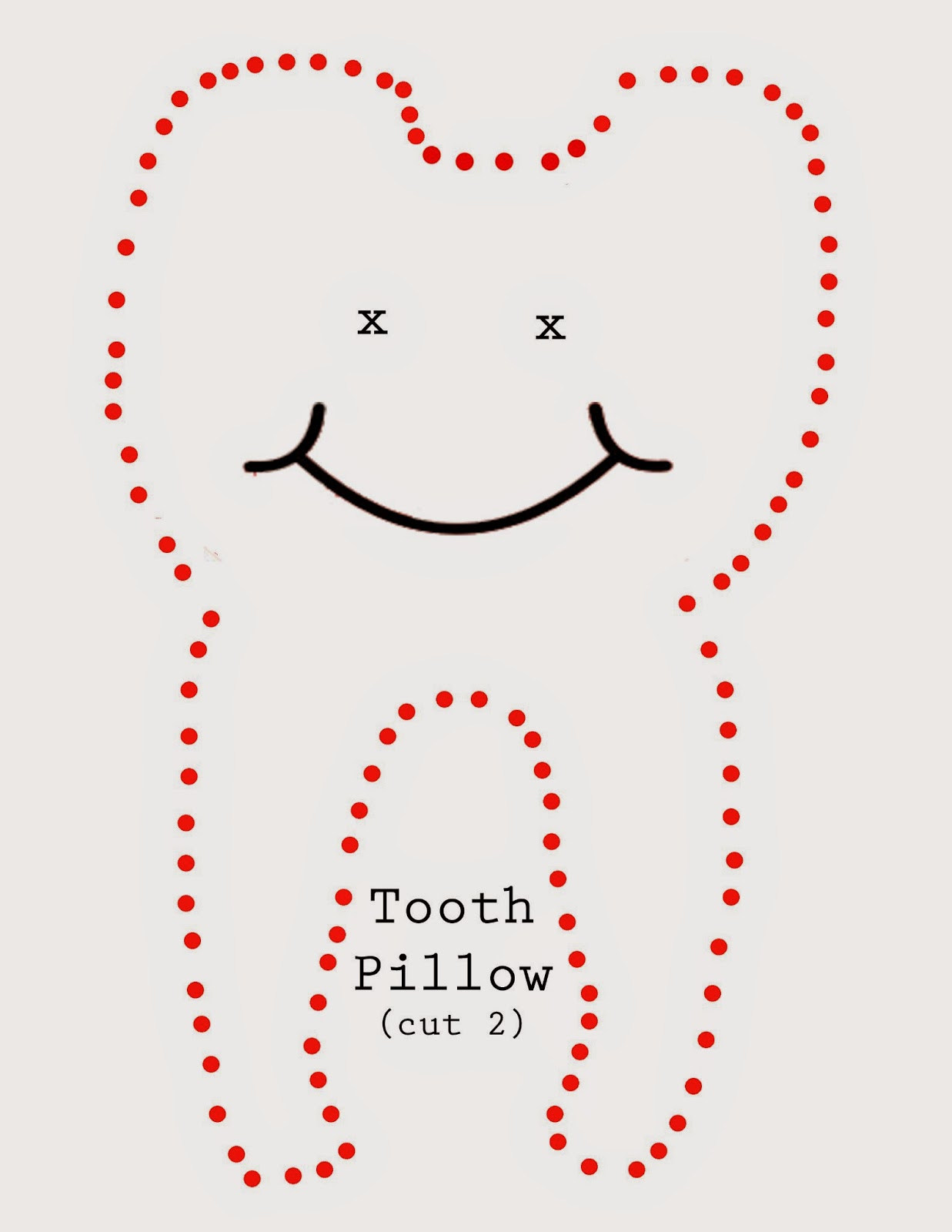 Tooth template insrenterprises tooth fairy pillow the ribbon retreat blog tooth template pronofoot35fo Image collections