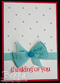 Curly Cute Card by UK Stampin' Up! Demonstrator Bekka Prideaux