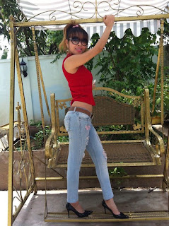 Votey Teav Khmer Girl Sexy Shirt and Hot Jean 3