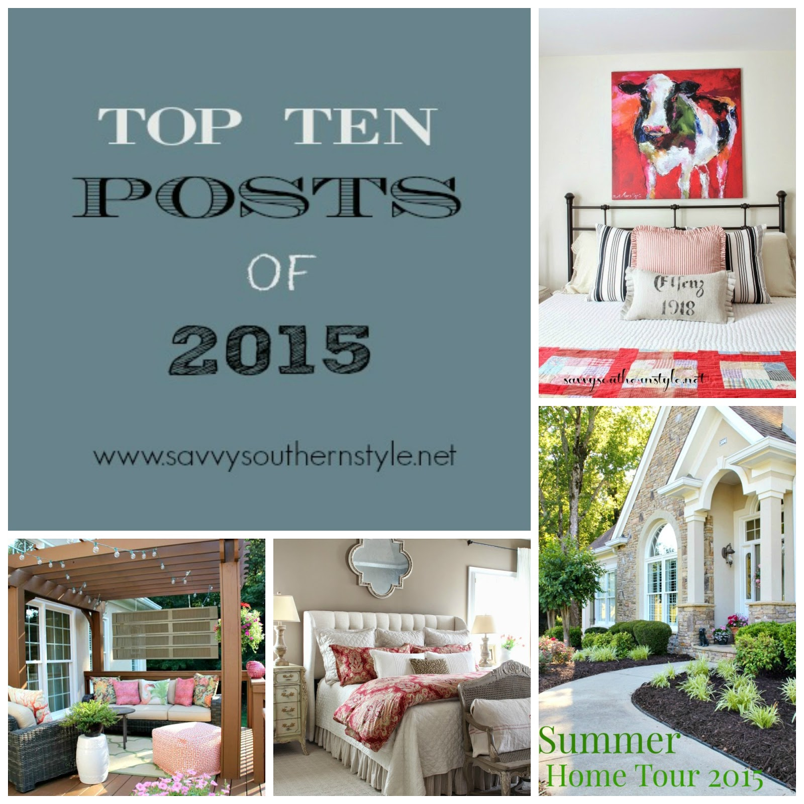 Southern Seazons Top 5 Posts Of 2015: Savvy Southern Style : The Top Ten