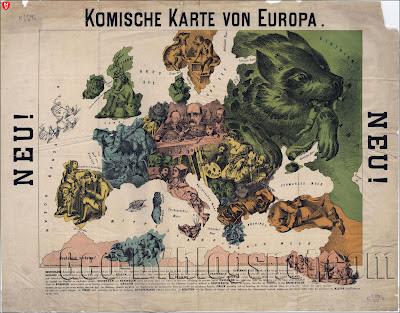 Komische Karte von Europe