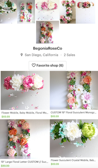 Shop My Etsy Store: BegoniaRoseCo.