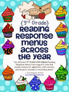 https://www.teacherspayteachers.com/Product/Reading-Response-Menus-Across-the-Year-3rd-Grade-CCSS-Aligned-603612