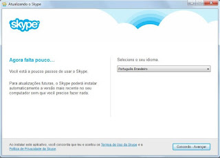 Instale o Skype na sua máquina