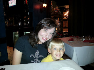 My and one of my dates at Marcello's