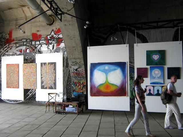 Фрагмент экспозиции интуитивной живописи