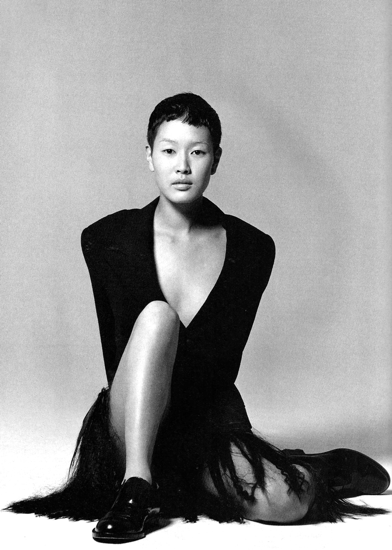 Jenny Shimizu by Marc Hispard for Tokyo Girl / Glamour France November 1993 via fashioned by love british fashion blog