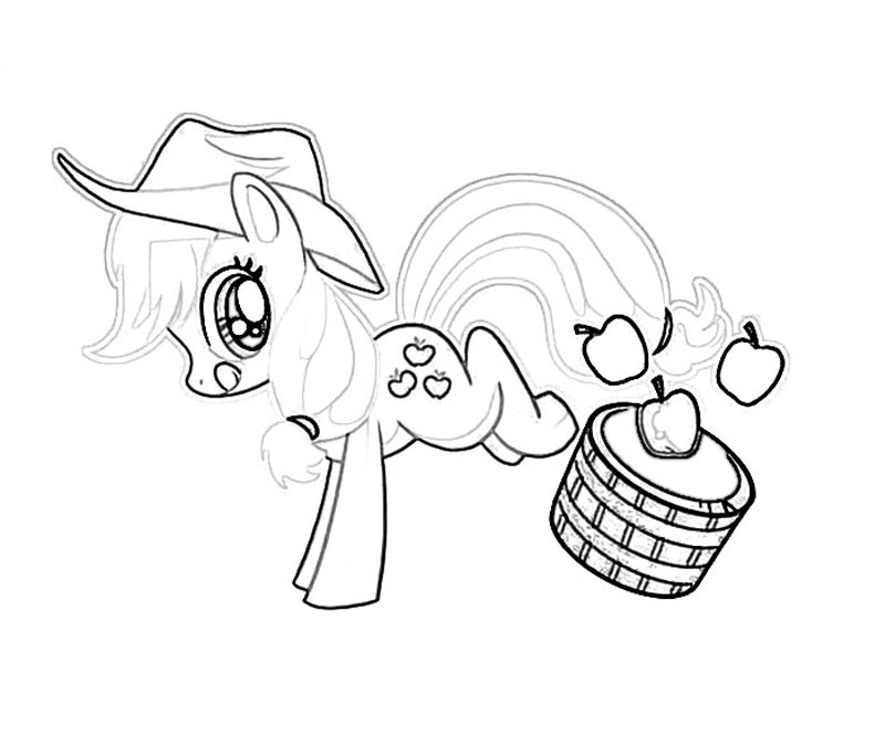 #18 My Little Pony Applejack Coloring Page
