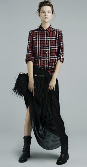 faldas largas Zara invierno 2012