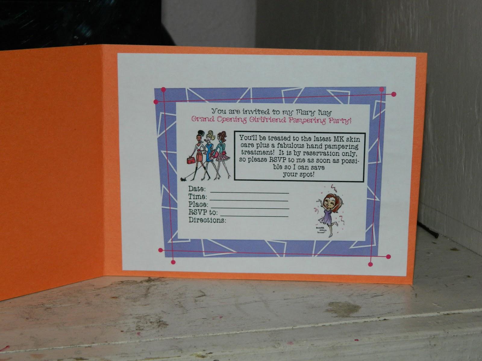 Mary Kay Business Debut Invitation | Party Invitations Ideas