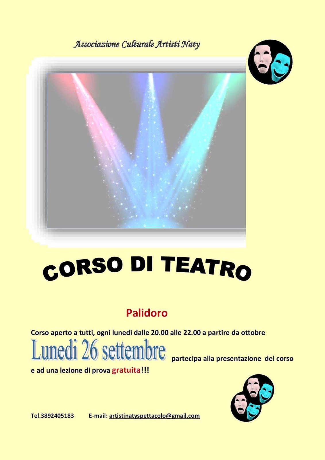 CORSO DI TEATRO A PALIDORO ANNO 2016/2017