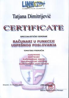 Computers and successful business, Link Computer Center, Tatjana Dimitrijevic
