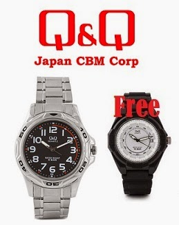 Buy Q&Q Watches (Up to 74% Off) worth Rs.1499 and Get another Q&Q Watch worth Rs.1000 FREE