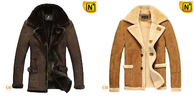 Men Lamb Fur Lined Coat