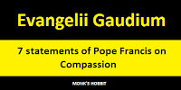 Evangelii Gaudium: 7 statements of Pope Francis on Compassion