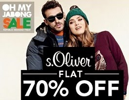 Republic Day Offer: Flat 70% Off on S. Oliver Men's & Women's Fashion Wear@ Jabong
