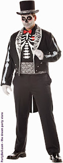 Day Of The Dead Groom Adult Plus Costume