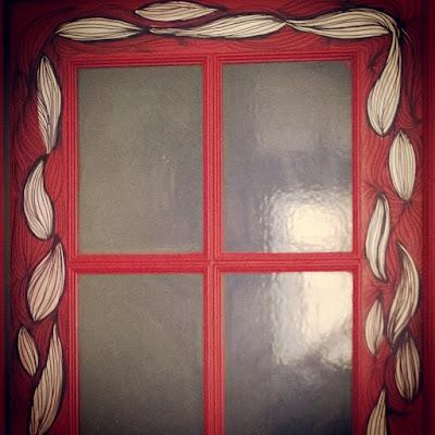 La esposa del embajador decoración puerta ilustración pintura acrílica