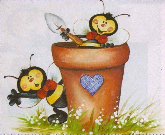 risco+pintura+em+tecido+pano+de+prato+abelhinha+vaso+de+flor.jpg
