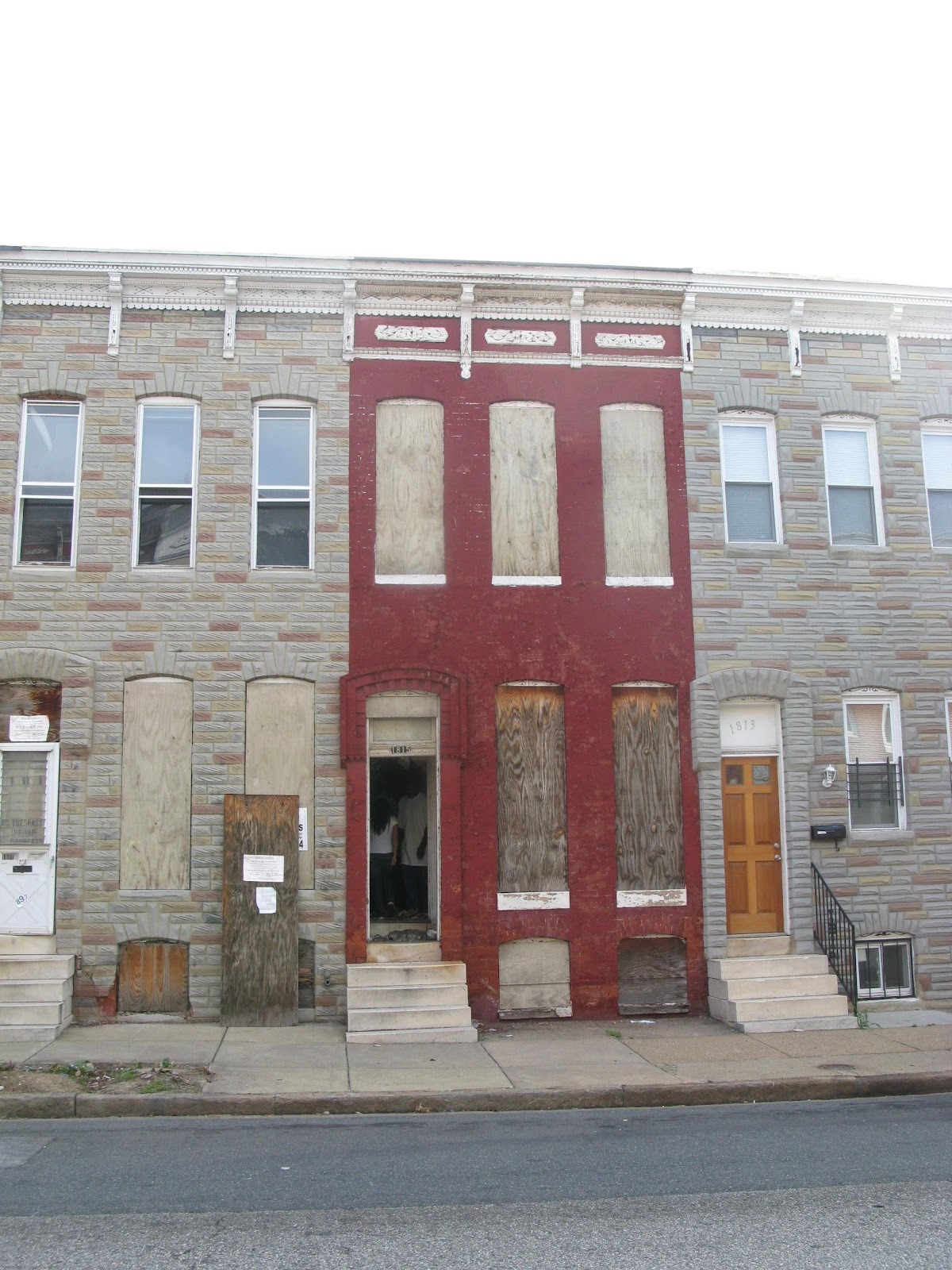 anatomy of the baltimore rowhouse community architect - Landscape Federal Row House Plans