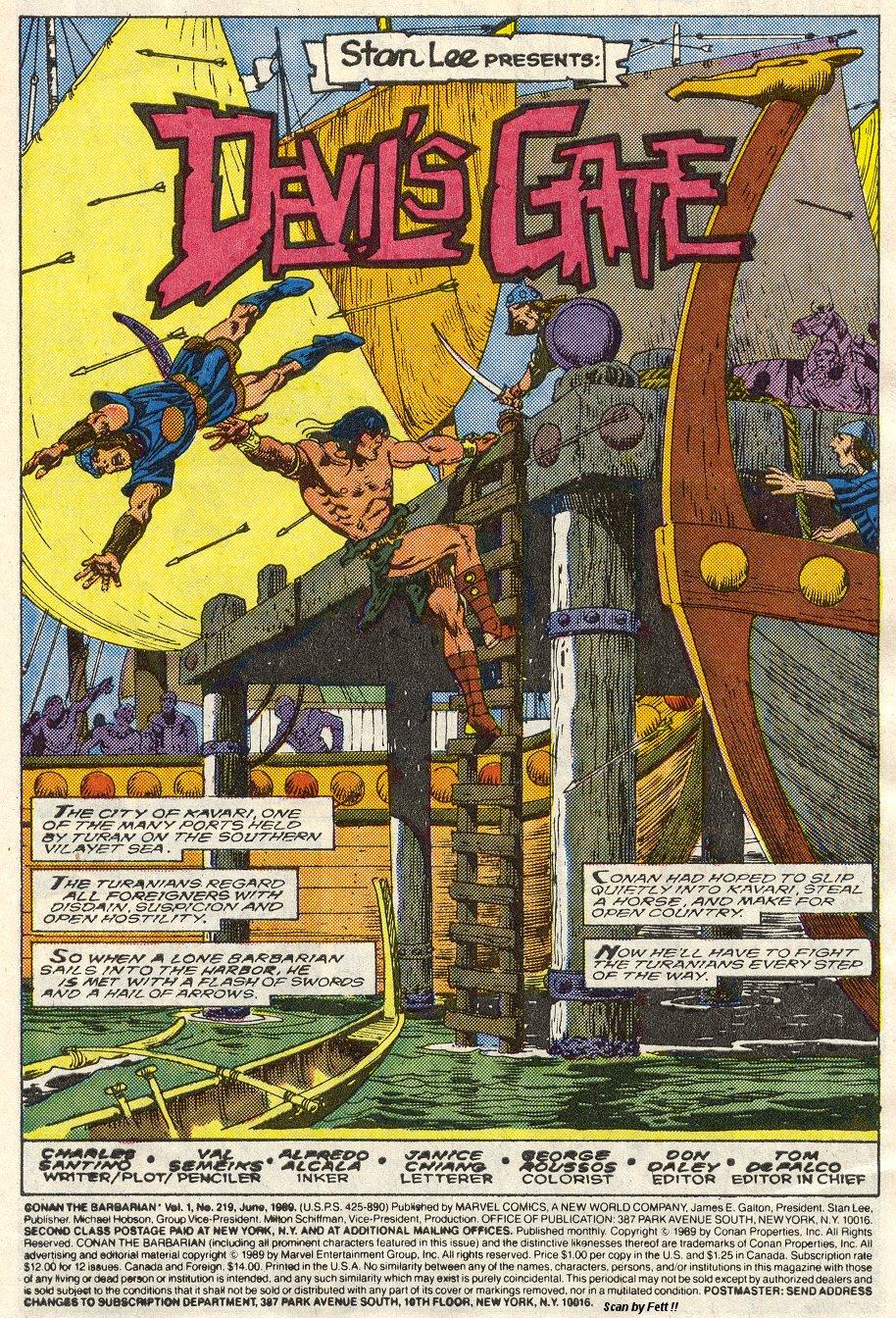 Conan the Barbarian (1970) Issue #219 #231 - English 2