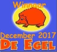"""Winnaar De Egel op 08-01 2018 (#48) """"Wintervouwkaart"""""""
