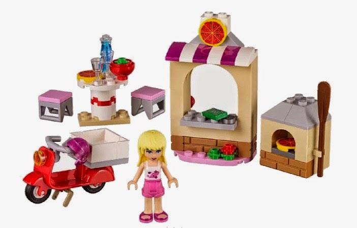 JUGUETES - LEGO Friends - 41092 La Pizzería de Stephanie  Producto Oficial | Piezas: 87 | Edad: 5-12 años