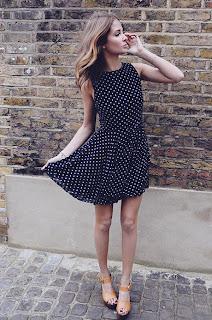 Millie Mackintosh, Blog, MIC, Made in Chelsea, Polka Dot, Navy White, Skater, Dress