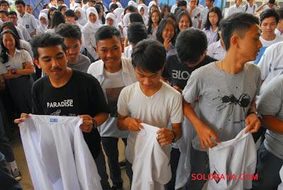 perayaan anak SMA 9 bandung