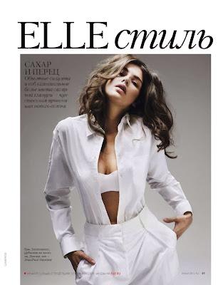 Tamara Lazic Elle Russia Magazine Photoshoot February 2014 HQ pics