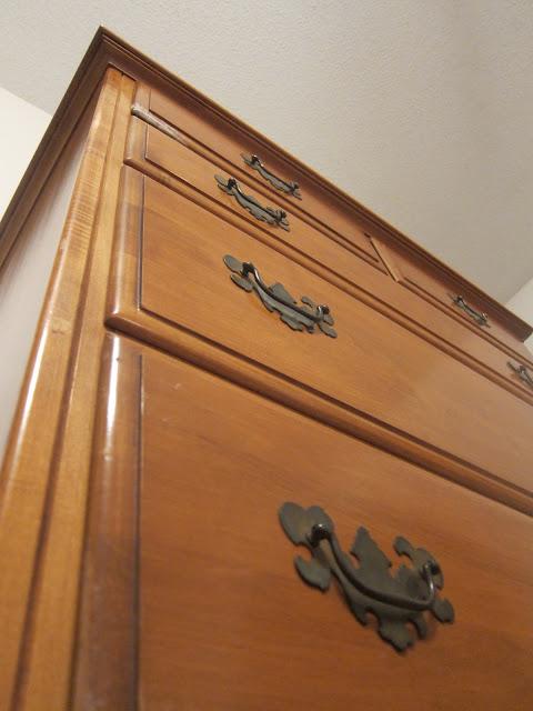 Wooden vintage dresser