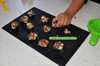 pâte amande chocopops