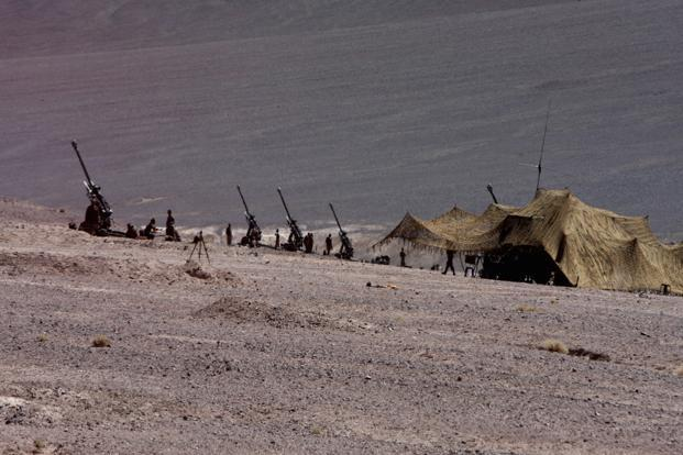 Chinese troops camping inside Indian