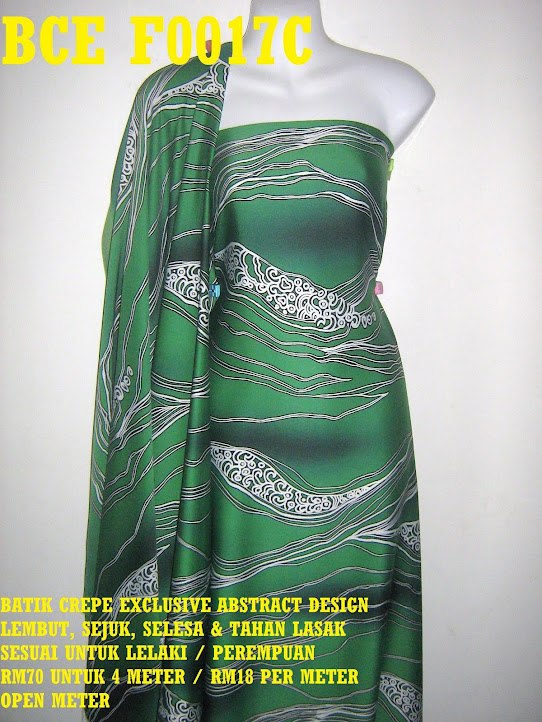 BCE F0017C: BATIK CREPE EXCLUSIVE ABSTRACT DESIGN