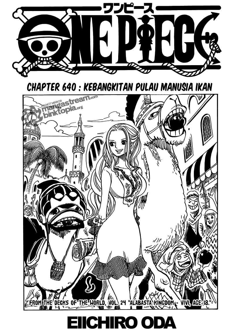 Komik manga Page01 shounen manga one piece